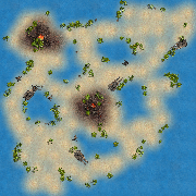 Lava Beach map for STBA.io - the free MOBA style HTML5 multiplayer game