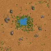 Oasis map for STBA.io - the free MOBA style HTML5 multiplayer game